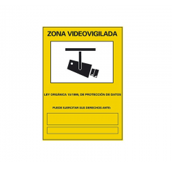 Cartel adhesivo: Zona...