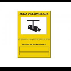 Cartel: Zona videovigilada...